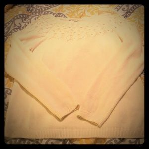 Cream Talbots sweater